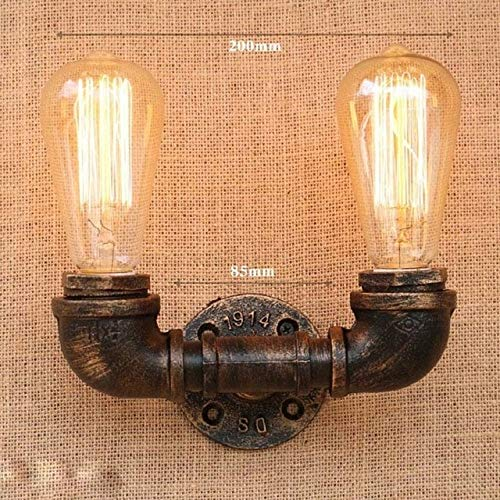 Retro Industrielle Wandleuchte Vintage eisen rost Wasserleitung Lampen E27 Loft Licht Überzogen Innenbeleuchtung Home schlafzimmer restaurant DecoGELB -