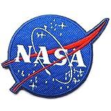 Nasa (Administración Nacional aeronáutica y del espacio) programa espacial de logotipo vector parche emblema táctico militar ejército bordado coser en insignia etiquetas operador parches con gancho y bucle cierres respaldo