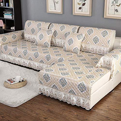 ZTMN Antirutsch-Sofa-Abdeckung, europäischer Couch-Abdeckungs-Wohnzimmer-Möbel-Schutz Thicken Sofa Schonbezug Lounge Für Kinder Hund Pet-d 70x180cm (28x71inch) -