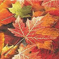 20 Servietten Einzelnes Herbstblatt  Herbst  Holz Ahornblatt