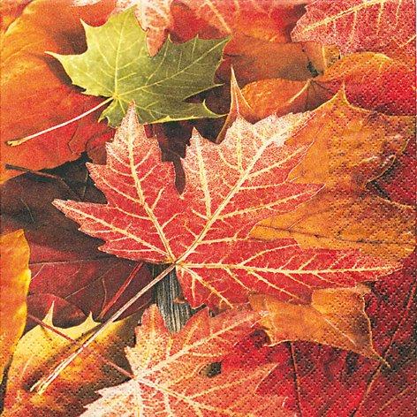 20 Servietten Maple leaves - Ahornblätter / Herbst 33x33cm