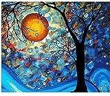 ZHAOHH Peinture Abstraite Peinture De Bricolage par Numéros Lune Paysage Paysage Peint À La Main Peinture sur Toile Décor À La Maison Mur Artwork DIY Cadre 40X50cm
