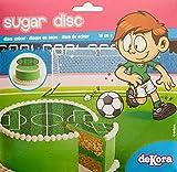 Football Disque en Sucre 16 cm Football sans Gluten sans Colorants Azoïques 15 g