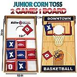 Elite Sportz Junior Bean Bag Toss Spiel - 2 Spiele On 1 Board, können Sie Spielen Kids Cornhole Toss oder einfach nur Flip-It Over und Spielen Tic Tac Toe