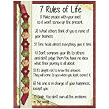 7 Rules Of Life: Motivational Notebook (Composition Book Journal) (8.5 X 11 Large) (110 Pages)
