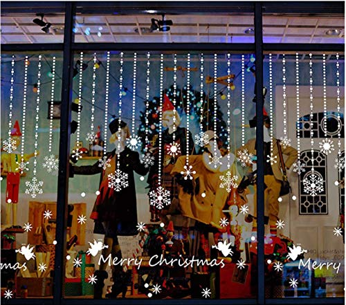 Weihnachts deko Schneeflocke Wand aufkleber Weihnachten Schneeflocke Ornamente Anhänger Schaufenster Glas Weihnachten Hintergrund Dekorative Wandaufkleber Schneeflocke Anhänger AufkleberWall Stickers