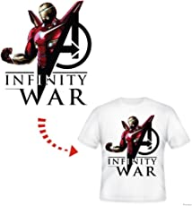 TOTAL HOME Ironman with New Suit in Avengers Infinity War Hot Heat Vinyl Thermal Transfer Stickers Applique for T-Shirt - Pack of 1