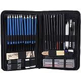 Set di matite per schizzi da disegno da 48 pezzi, kit artistico con matite per schizzi Matita di grafite Matite a carboncino