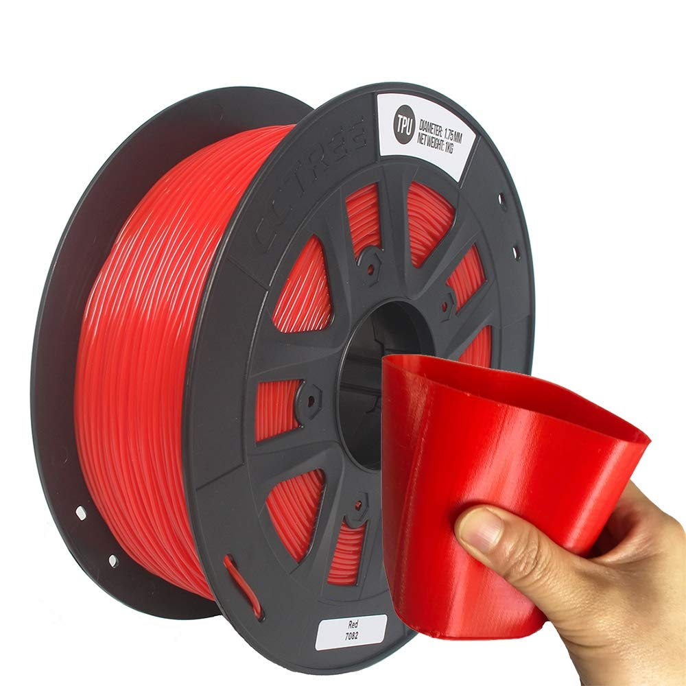 Shuzhen,Précision Flexible du Filament d'imprimante de 0.05 millimètre 1KG d'imprimante du Filament 3D de 1.75mm(Color:Rouge)