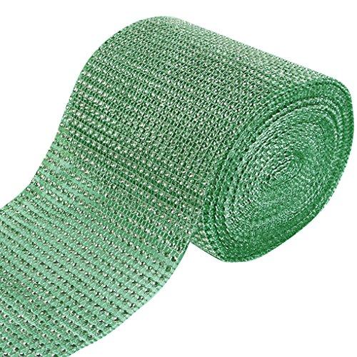 Blaux Strass Bling del nastro del rullo del nastro della maglia del Rhinestone Wedding Cake Decoration 8 # mela verde