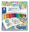 Staedtler 144 C24JB Noris Club Colouring Pencils, Johanna Basford Edition - Assorted Colours, Pack of 24