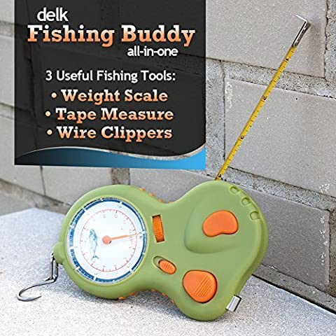 New Delk Fishing Buddy All in One Wire clippers&weight scale&tape measure by Delk