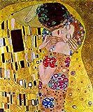 grafitec Gedruckt Tapisserie-Set–Der Kuss (Le Baiser) von G. Klimt
