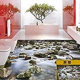 Wall Stickers lzzfw lzzfw Wandaufkleber 3D Dimensional Floor Schlafzimmer Wohnzimmer Badezimmer Zubehör Wasserdicht Selbstklebende Aufkleber, Twill