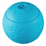 Pet Snack Ball, Natural Rubber Chewing Ball For Dog Toy Balls, Puzzle Rubber Training Resistant Balls For Dogs-3.14Inch (Blue)