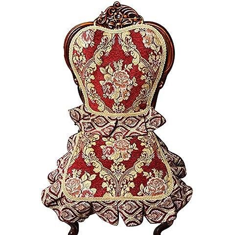 CLG-FLY Continental cubierta de asiento tapizado set-Deslice acolchado cojín silla exclusiva mat sillas,33*180 color café europeo