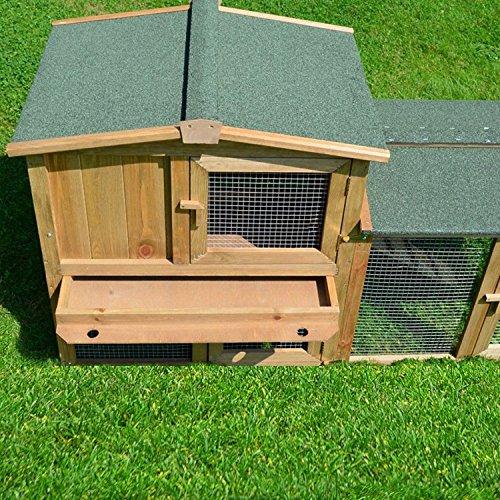 Stall 1 PL Kaninchenstall Hasenstall Kaninchenkäfig Hasenkäfig Meerschweinchenstall - 6