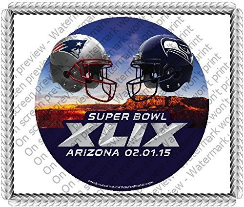 super-bowl-xlix-matchup-patriots-vs-seahawks-edible-image-cake-cupcake-or-cookie-decoration-topper-1