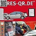 VW Golf e-Golf 7 ab 2014: QR-Etiketten-Nachrüst-Satz für Zugang zur digitalen Rettungskarte (3 Etiketten plus Hinweisplakette)