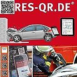 Mazda Mazda 2 dj 2014-2017: QR-Etiketten-Nachrüst-Satz für Zugang zur digitalen Rettungskarte (3 Etiketten Plus Hinweisplakette)