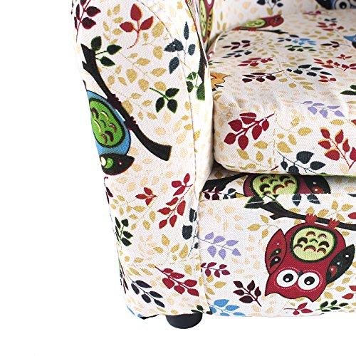 Emall Life Kid's Luxury Armchair Children's Tub Chair Cartoon Sofa Wooden Frame (Big Owl)