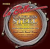 Labella M45B5 Hard Rockin Steel Série Pack de 5 Jeux de Cordes pour Guitare Basse 45/128 Regular