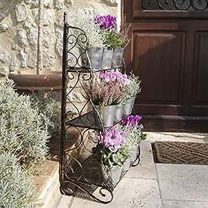 plant theatre etag res pour fleurs et plantes en fer forg. Black Bedroom Furniture Sets. Home Design Ideas
