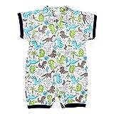 TupTam Baby Jungen Kurzarm Spieler mit Polokragen Baumwolle, Farbe: Dinos Grau/Blau, Größe: 68