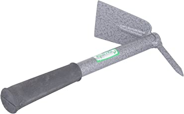 Greenfield Garden Store Concorde Iron Gardening Hoe with Single Prong and Handle