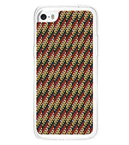Colourful Pattern 2D Hard Polycarbonate Designer Back Case Cover for Apple iPhone 5C