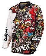 ONEAL 2015 Motocross / MTB maglia - Mayhem Crank - nero - multicolore Enduro MTB Cross DH, 0023C-10 - L - Sublime grafica che non sbiadisce - Costruzione multi pannello per una buona vestibilitá - Protezioni gomiti integrate cucite - Stampa i...