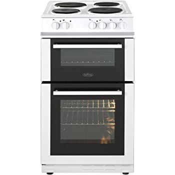 beko bdc5422aw freestanding ceramic a white oven and cooker ovensbelling fs50et 50cm twin cavity electric cooker with grill \u0026 4 zone solid plate hob in white