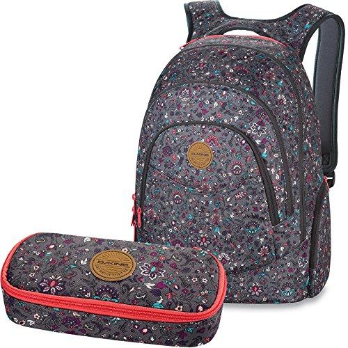 9f07379fd8231 DAKINE 2er SET Rucksack Schulrucksack Laptoprucksack 25l PROM + SCHOOL CASE  Mäppchen Wallflower II