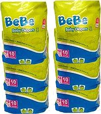 Bebe New Born Baby Diapper NB10's (Pack of 6)