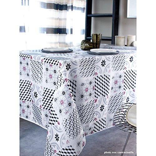 Nappe tissu rectangle 150X250 cm Carreaux ciment
