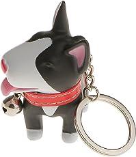 Generic Charm Key Ring Key Chain Cute Dog Pendant Gift-Black