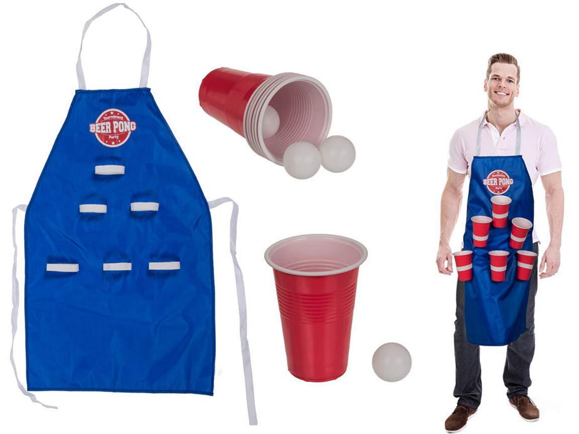 Bada-Bing-11tlg-Set-Kchenschrze-Bier-Schrze-Beer-Pong-Ca-80-x-50-cm-Mit-4-Bllen-Und-6-Trinkbecher-FM-450ml-Lustiges-Trinkspiel-Geschenk-JGA-Partyspiel-23