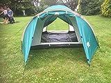 Zelt 1 2 3 Personen Firstzelt grün Camping 2.200 Ws 2 EINGÄNGE Schlafkabine Moskitonetz