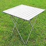Table de Pique-Nique Pliante, Klapptische, im Freien beweglichen Aluminiumtisch Campingtisch Picknick-Grill Tischleuchte 70 * 70 * 70cm, (Color : #1)