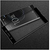 Mobi Case (TM) Tempered Glass 3D Curved Full Size Screen Protector For Sony Xperia XA1 Ultra - Black