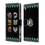 Head Case Designs Offizielle Monster Hunter World Alter Wald Ikonen Brieftasche Handyhülle aus Leder für Sony Xperia Z5 Premium/Dual