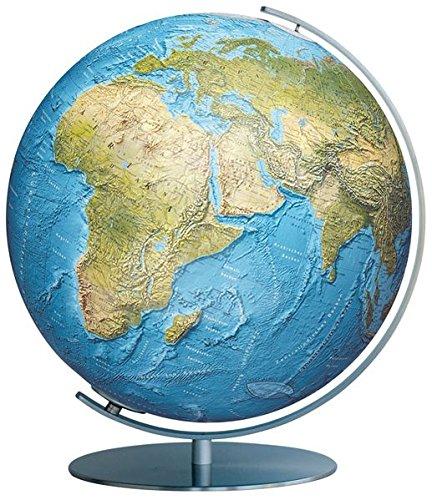 Preisvergleich Produktbild Columbus DUORAMA, 40cm: handkaschiertes Kartenbild auf einer Acrylglaskugel, Armatur aus Edelstahl, matt (Professional Line by COLUMBUS)