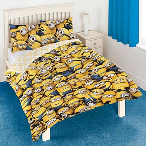 Conjunto de funda de edredon y de 2 almohadas, diseño de Minions