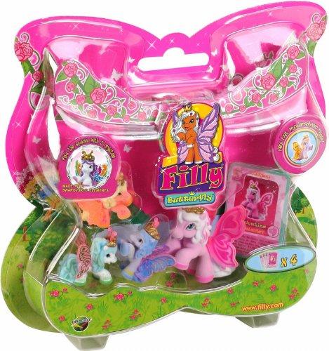 filly spielzeug Dracco UT20580 - Filly Butterfly Sammelpferde, Mutter mit 3 Babies