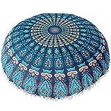 Oferta de Liquidación! Colchón Cubierta de edredón Indian Mandala Pillows Round Bohemian Cojín de la casa Almohadas Cubierta Cojines de Caja  Manadlian (H)