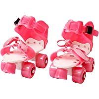 Protokart Pro Roller Skates for Kids, Quad Roller Skates, 4 Wheel Adjustable Skates, Adjustable Inline Skating Shoes, Age Group 5-12 Years (Pink)
