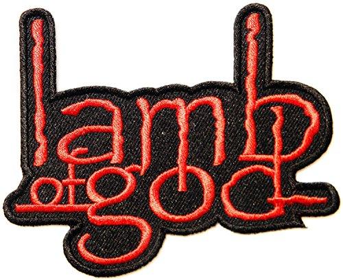 Lamb of god Music Band Logo Patch Sew Iron on ricamato decorazioni
