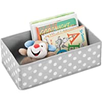 mDesign boîte de rangement pour chambre d'enfants, salle de bain, etc. – module de rangement avec motifs à pois – boîte…
