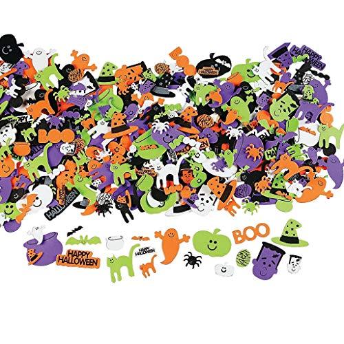 Elfen und Zwerge 200 x Moosgummi Halloween Sticker (6 Bögen) Aufkleber zum Basteln für Deine Halloweenparty oder als Dekoration