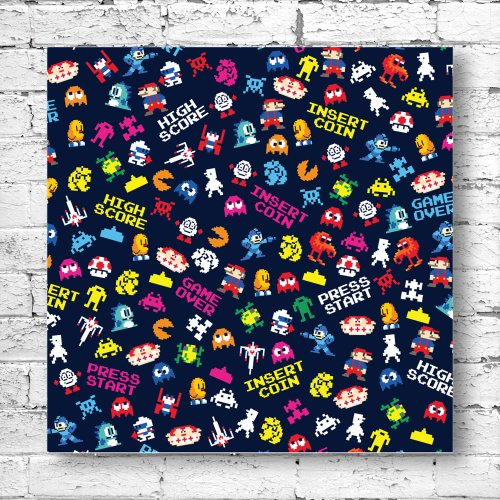 30x30cm-canvas-art-print-pixel-pattern-multicoloured-retro-atari